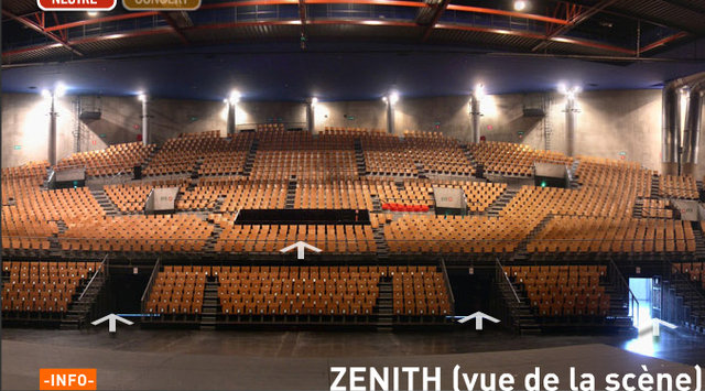 Plan du zenith de lille fort de france design for Interieur zenith toulouse