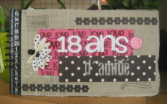 Couverture Album En Lin Scrapbooking
