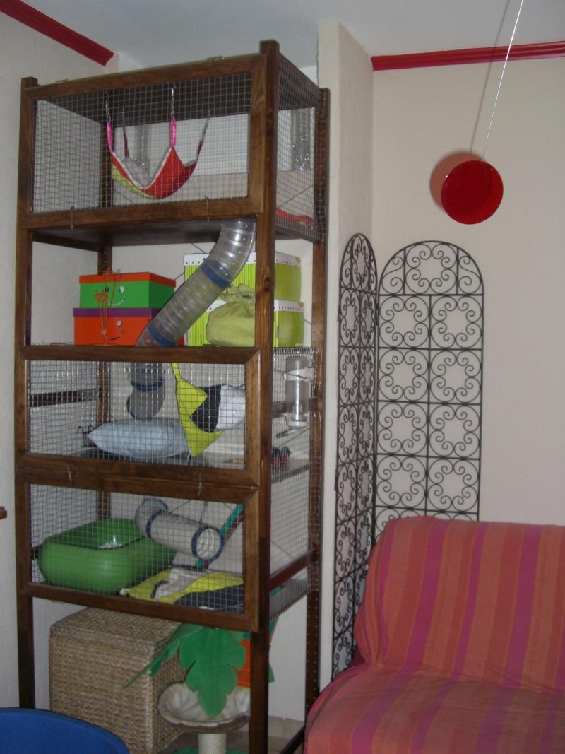Cage furets fait maison for Accessoire furet fait maison