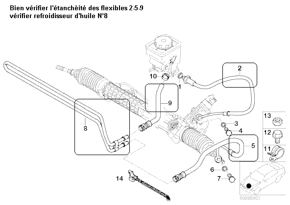 bmw e39 530d an 1999 fuite de liquide de direction. Black Bedroom Furniture Sets. Home Design Ideas