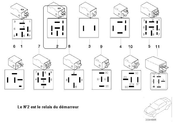 schema relais bmw e36. Black Bedroom Furniture Sets. Home Design Ideas