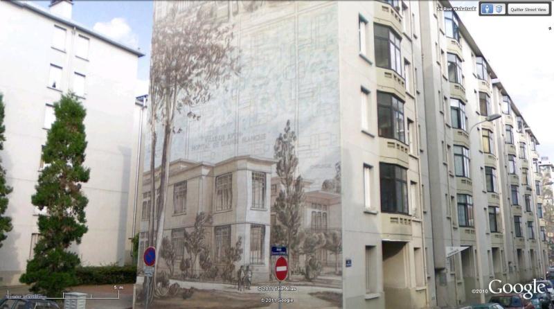 Street view la cit id ale en 25 fresques murales lyon - Hopital edouard herriot grange blanche ...