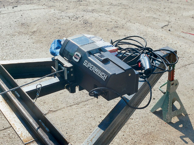Car Trailer Winch >> Mounting A Winch On A Reciever On A Car Trailer The Garage