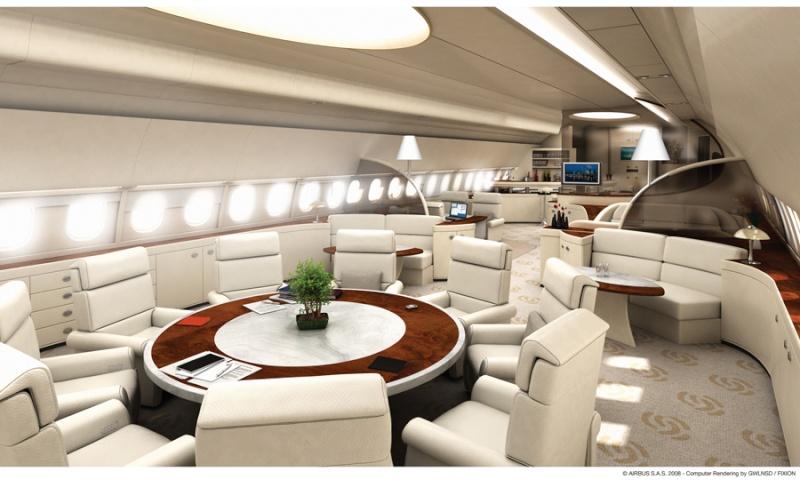 Pour la curiositt et le luxe for Avion de luxe interieur