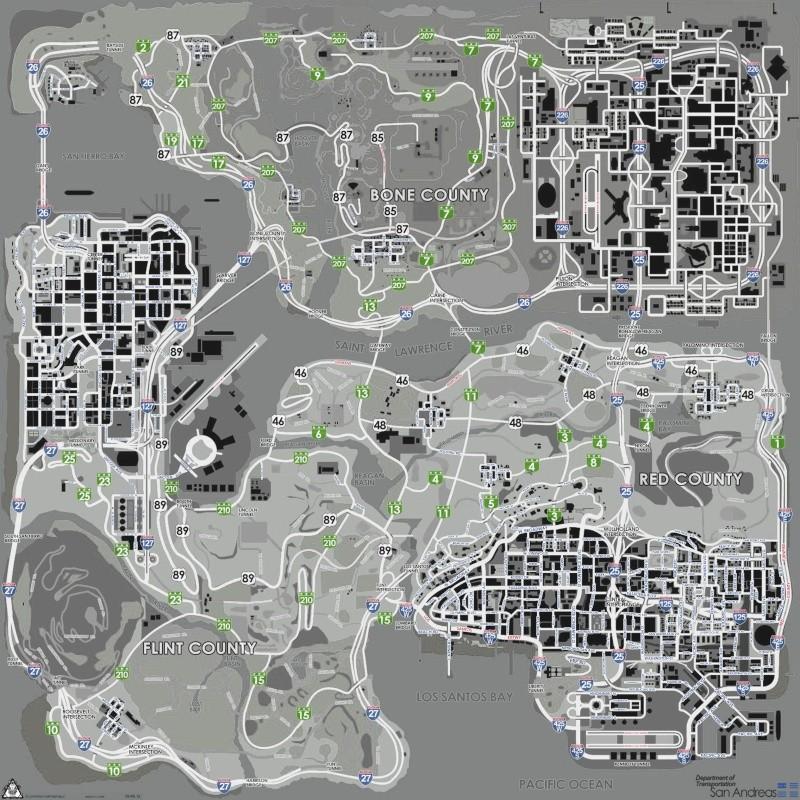 Карта Gta San Andreas Со Всеми Обозначениями.Rar