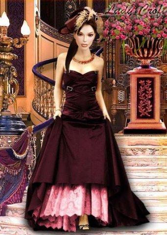 Женские шаблоны для фотошопа - Бархатное платье.