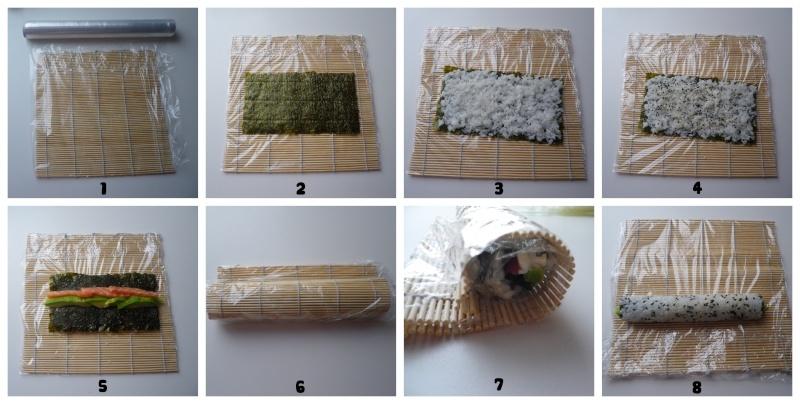 пошаговый рецепт приготовления роллов с фото
