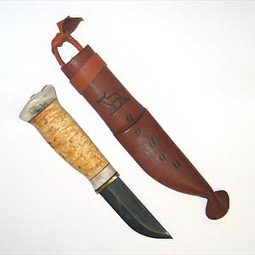 Профессиональный лапландский нож для снятия шкуры.  Сталь ручной ковки.